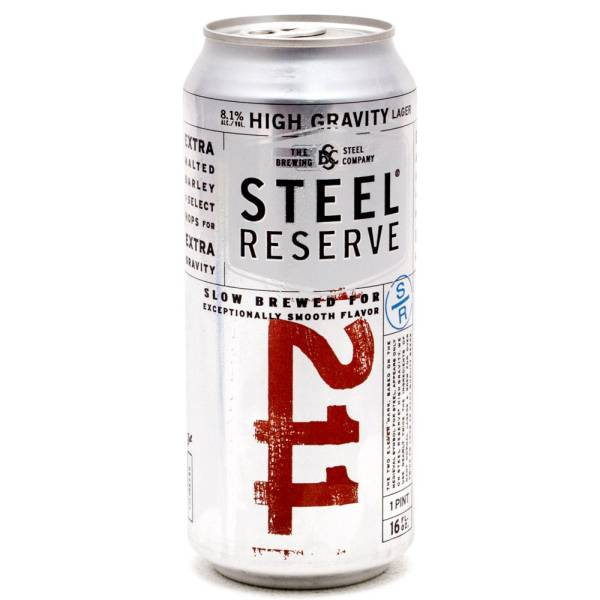 Steel Reserve - 211 High Gravity Lager - 16oz Can - 4 Pack