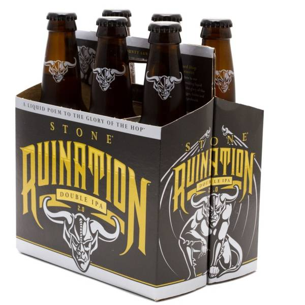 Stone - Ruination Double IPA - 12oz Bottles - 6 pack