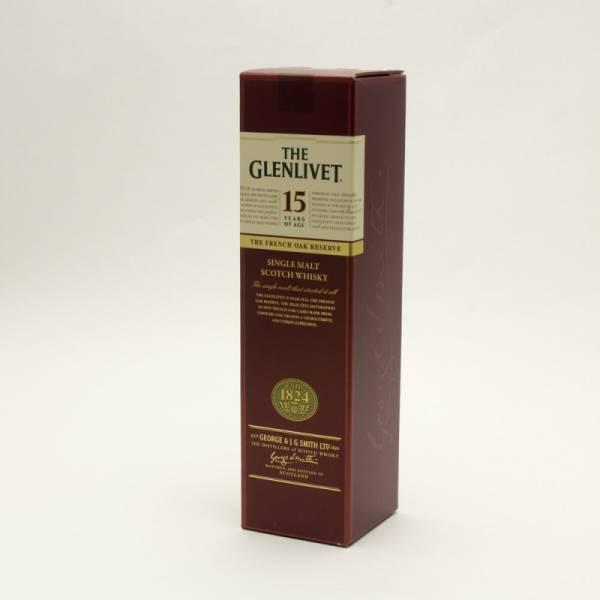 The Glenlivet - 15 - Single Malt Scotch Whiskey - 15 Years Aged - 750ml