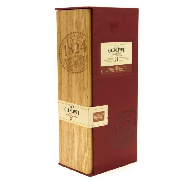 The Glenlivet - 21 - Single Malt Scotch Whiskey - 21 Years Aged - 750ml