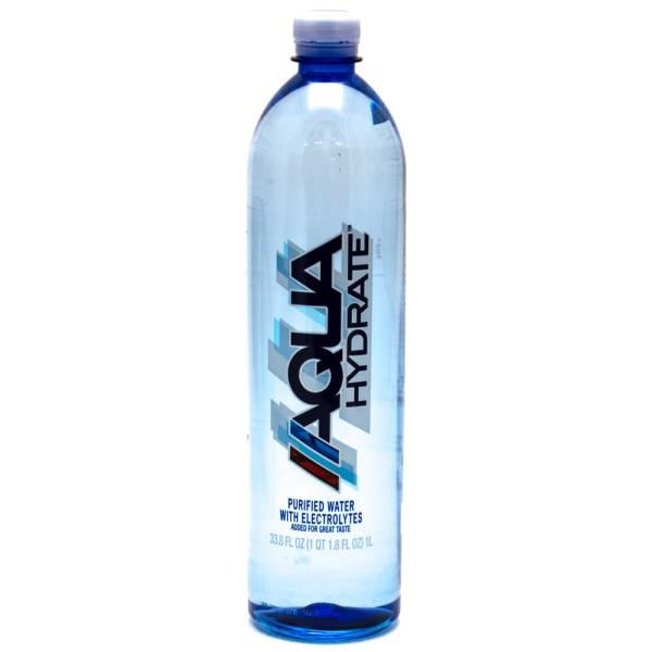 Aqua Hydrate - Purified Water with Electrolytes - 33.8fl oz