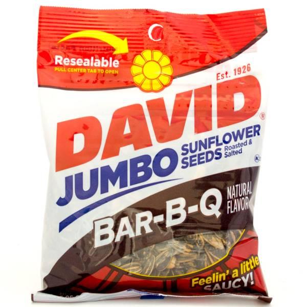 David -  Bar-B-Q - Jumbo Sunflower Seeds - 5.25oz