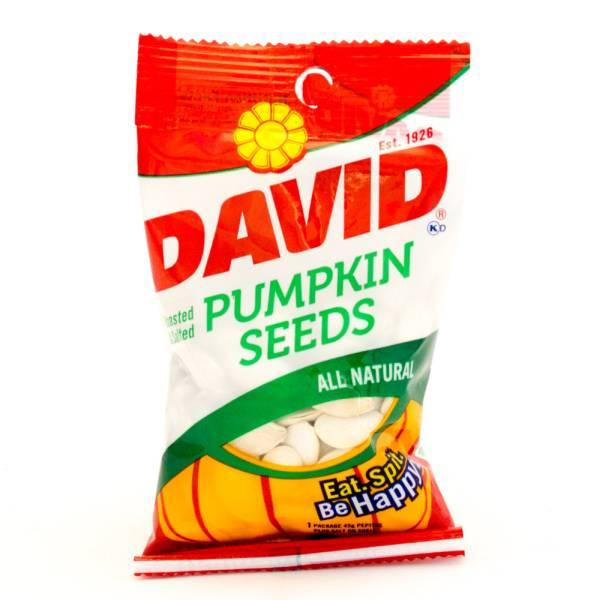 David - Pumpkin Seeds - All Natural - 2.25oz