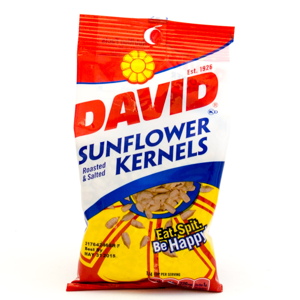 David - Sunflower Kernels - Roasted and Salted - 2.25oz