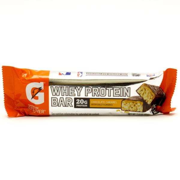 Gatorade Recover - Chocolate Caramel - Whey Protein Bar 20g Protein - 2.8oz