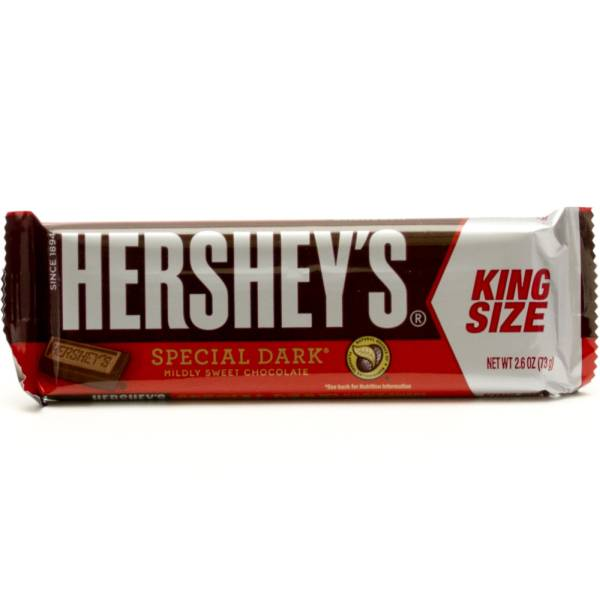 Hershey's Special Dark Mildly Sweet Chocolate - King Size - 2.6oz