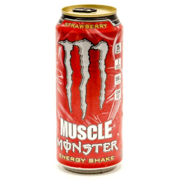 Muscle Monster - Energy Shake - Strawberry - 15fl oz