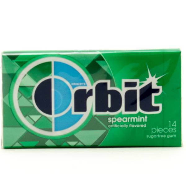 Orbit Spearmint Sugarfree Gum 14 Pieces Beer Wine