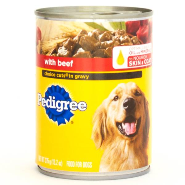 Pedigree  -with Beef Choice Cuts in Gravy Food for Dogs 13.2oz