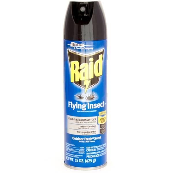 Raid Flying Insect Killer 7 Kills Flies & Mosquitoes Indoor-Outdoor Outdoor Fresh Scent 1 - 5oz