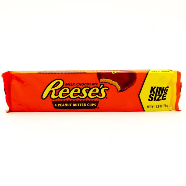 Reese's - Milk Chocolate - 4 Peanut Butter Cups King Size - 2.8oz