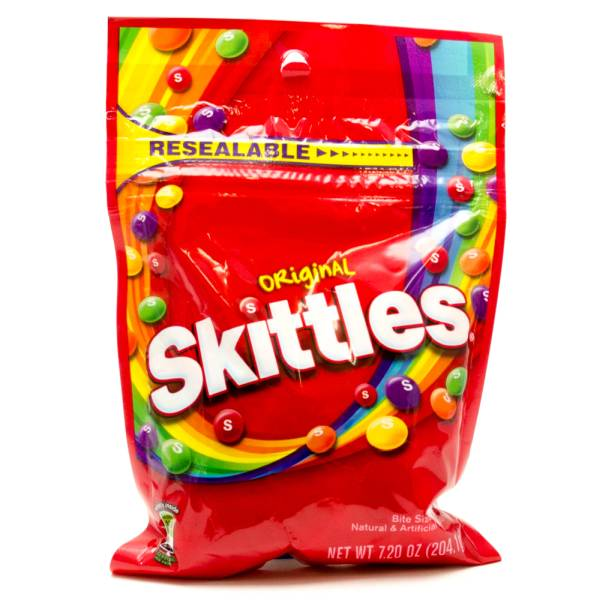 Resealable Original Skittles 7.20oz