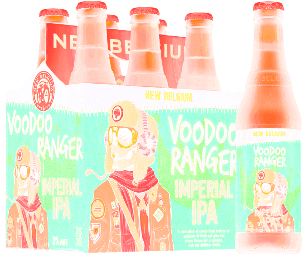 New Belgium VooDoo Ranger Imperial IPA 6 Pack bottle