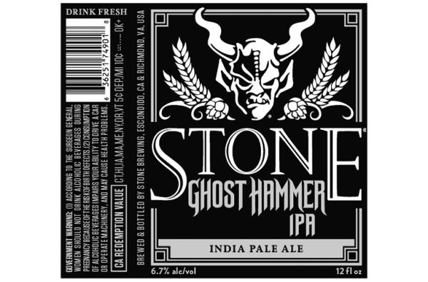 Stone -Ghost Hammer IPA - 12oz cans - 6 Pack
