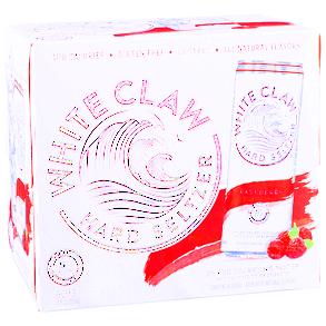 White Claw- Hard Seltzer- 12Fl oz- Raspberry 6 Cans