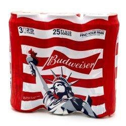 Budweiser - Beer - 25oz Can - 3 Pack