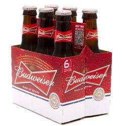 Budweiser - Beer - 7oz Bottle - 6 Pack