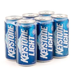 Keystone Light - 12oz Can - 6 Pack