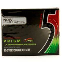 5 - Prism Watermelon Sugarfree Gum -...