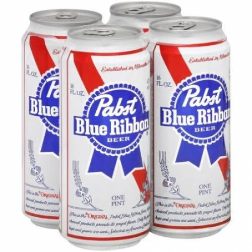 Pabst Blue Ribbon Lager Beer - 4 Pack...