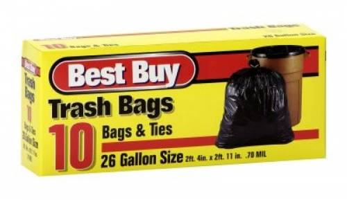 Best Buy Garbage Bags - 26 gallon -...