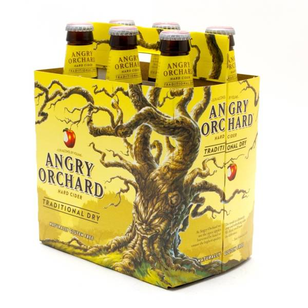 Angry Orchard - Traditional Dry Hard Cider - 12oz Bottle - 6 Pack