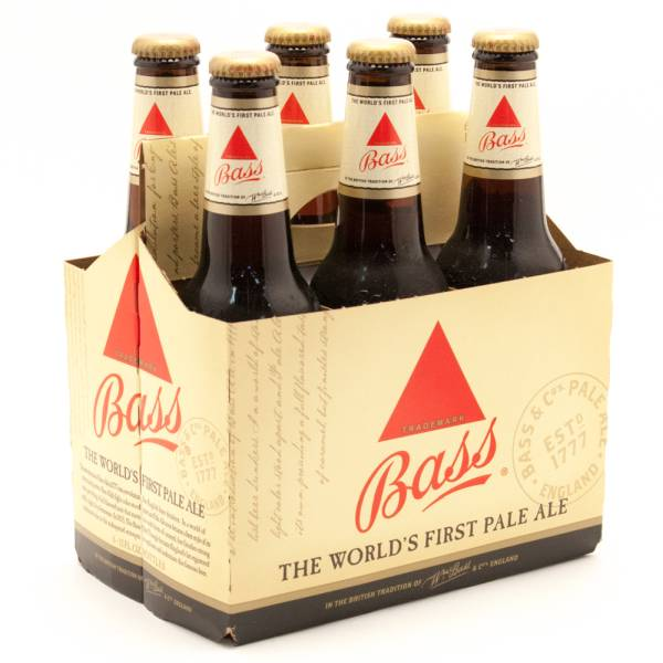 Bass Pale Ale 12oz Bottle 6 Pack Beer Wine And