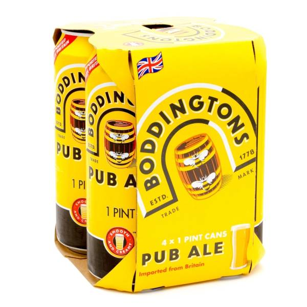 Boddingtons Imported Pub Ale 16oz Can 4 Pack Beer