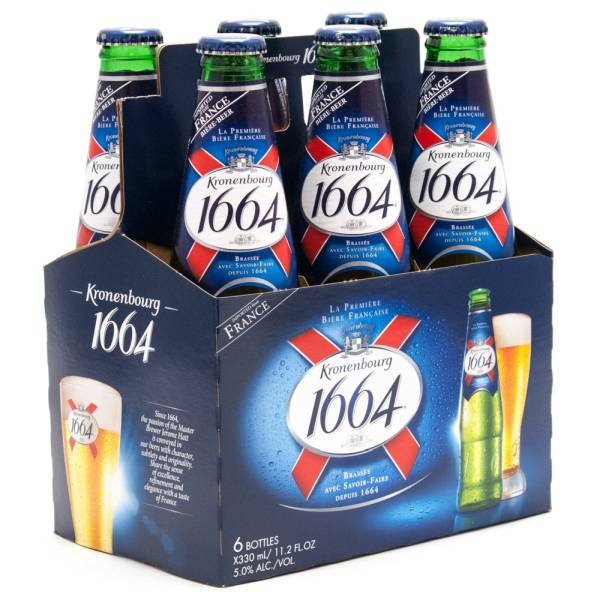 Brassee - Kronenbourg 1664 Lager - 11.2oz Bottle - 6 Pack