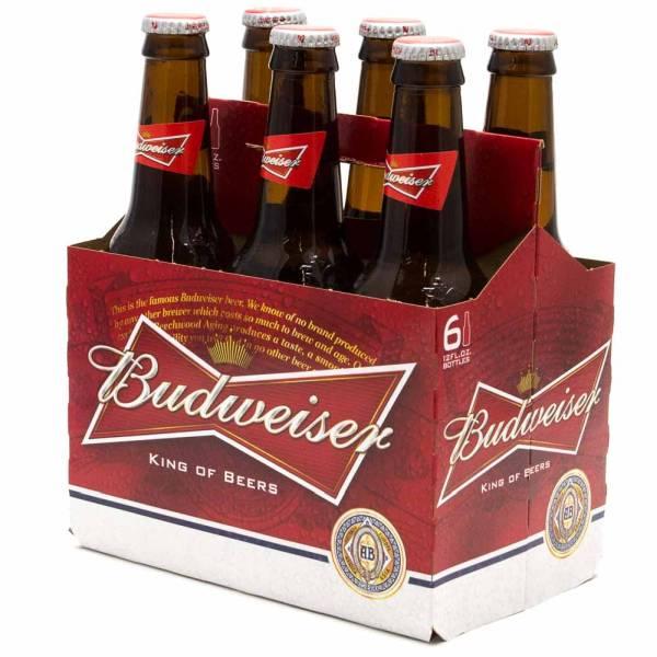 Budweiser - Beer - 12oz Bottle - 6 pack