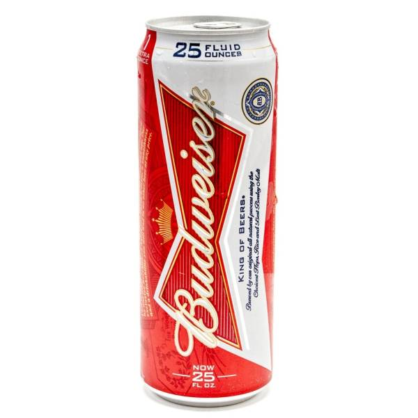 Budweiser Beer 25oz Can Beer Wine And Liquor
