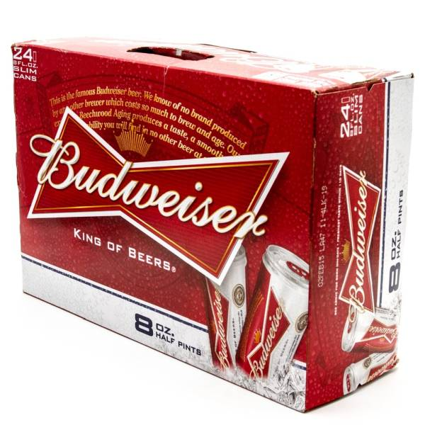 Budweiser Beer 8oz Can 24 Pack Beer Wine And
