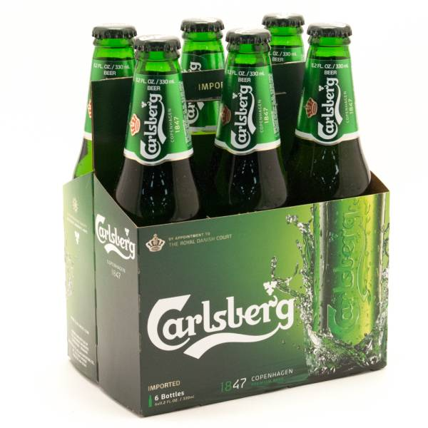 Carlsberg - Imported Beer - 11.2oz Bottle - 6 Pack