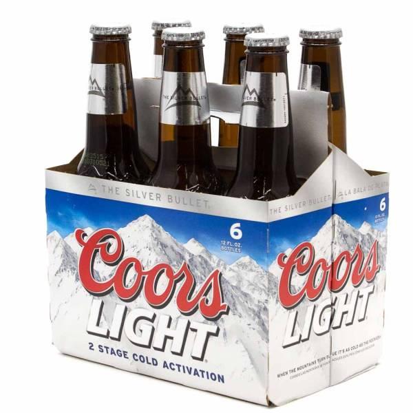 Coors Light Beer 12oz Bottle 6 Pack Beer Wine And