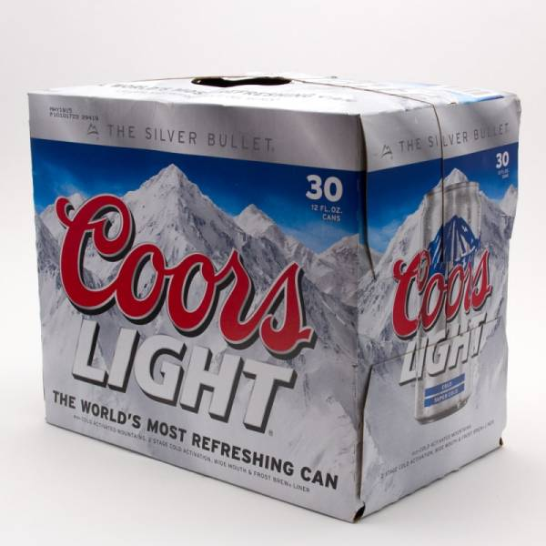 Coors   Light Beer   12oz Can   30 Pack Awesome Design