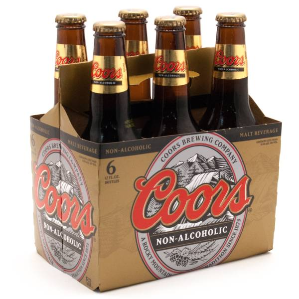 Coors - Non-Alcoholic - Malt Beverage - 12oz Bottle - 6 Pack