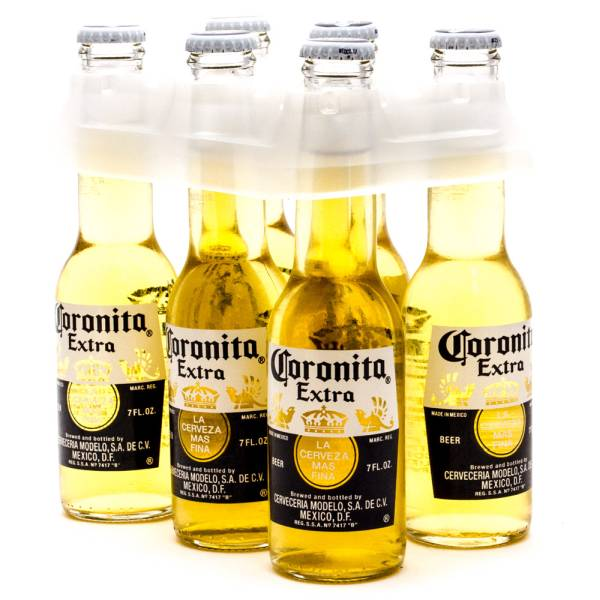 Corona Extra - Coronita Imported Beer - 7oz Bottle - 6 Pack