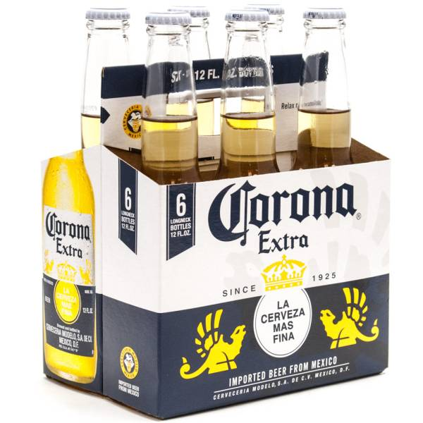 Corona Extra Imported Beer 12oz Bottle 6 Pack Beer