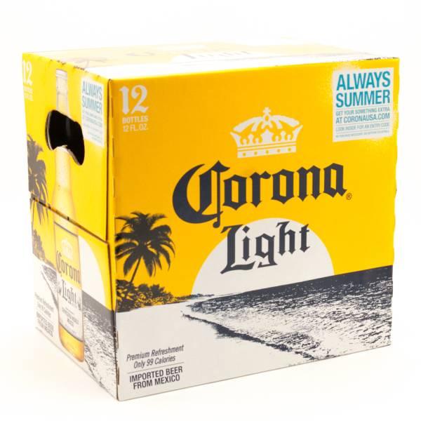 Corona Light - Imported Beer - 12oz Bottles - 12 Pack