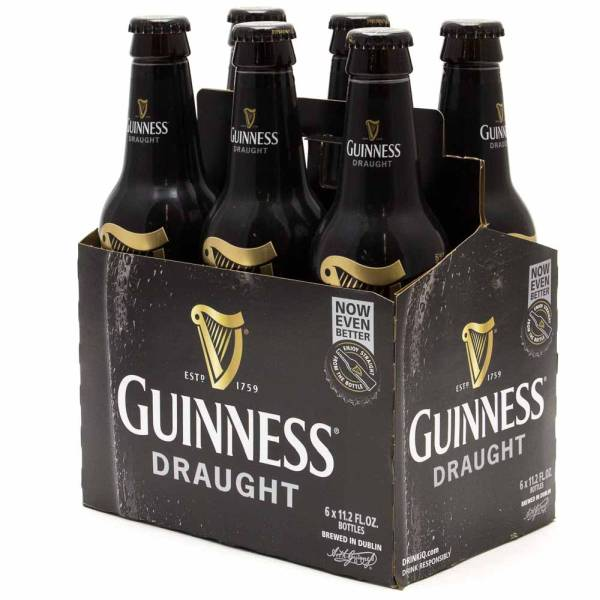 Guinness - Draught - 11.2oz Bottle - 6 Pack