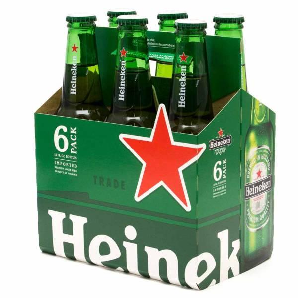 Heineken - Lager Beer - 12oz Bottle - 6 Pack