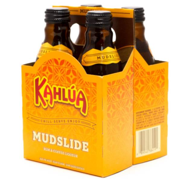 Kahlua - Mudslide Rum & Coffee Liquer - 200ml Bottles - 4 Pack