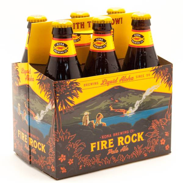 Kona Fire Rock Pale Ale 12oz Bottle 6 Pack Beer