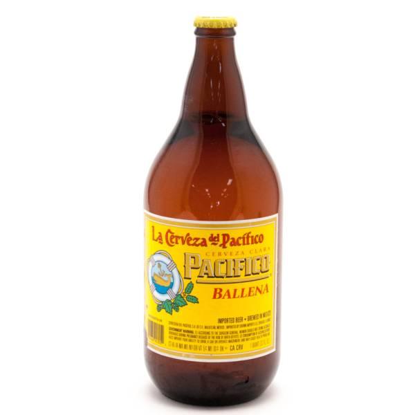 La Cerveza Del Pacifico - Pacifico Ballena Beer - 32oz Bottle