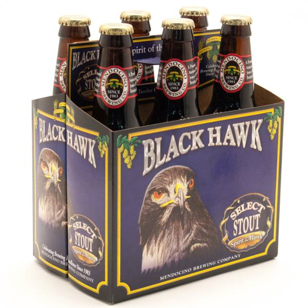 Mendocino - Black Hawk - Select Stout - 12oz Bottle - 6 pack