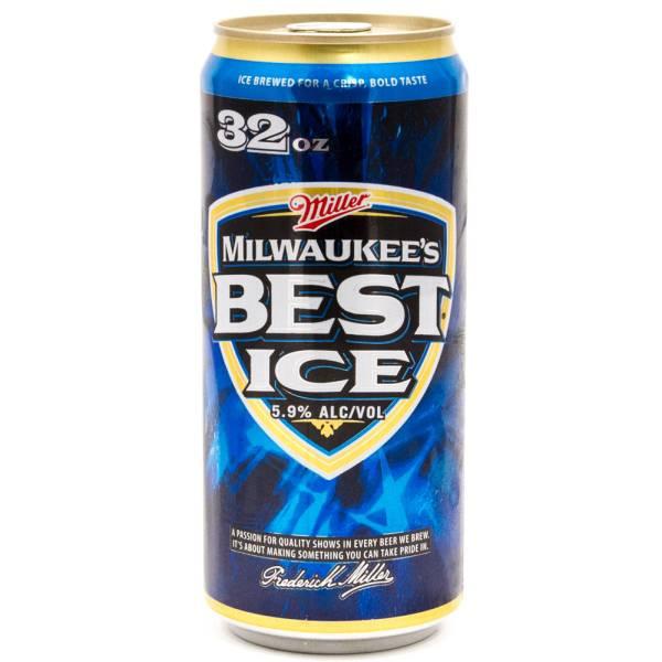 Miller Milwaukee S Best Ice Beer 32oz Can Beer