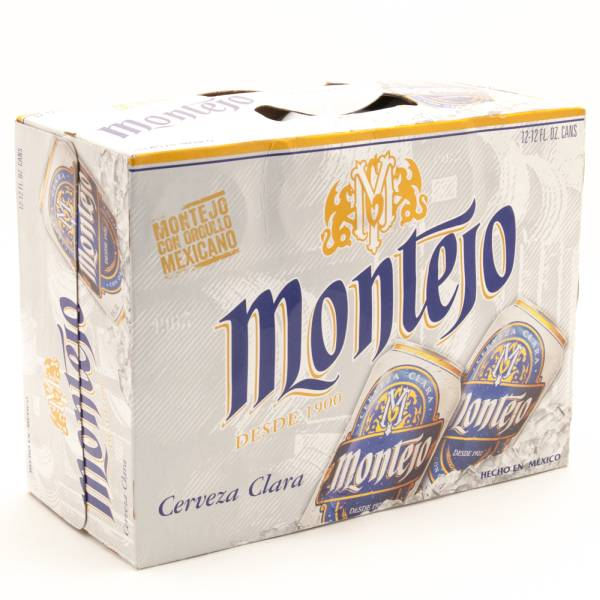 Montejo - Cerveza Clara Imported Beer - 12oz Can - 12 Pack
