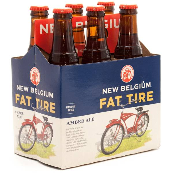 New Belgium - Fat Tire Amber Ale - 12oz Bottles - 6 Pack