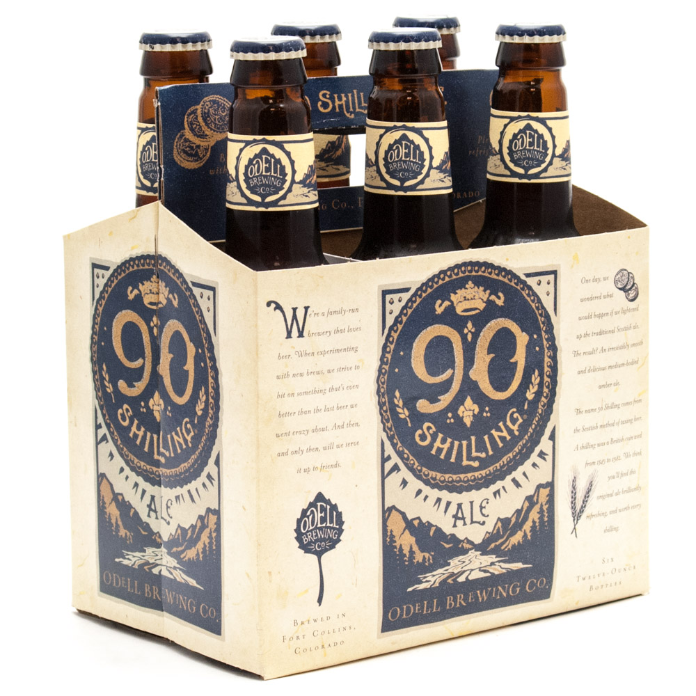 Odell Brewing Co - 90 Shiling Ale - 12oz Bottle - 6 Pack