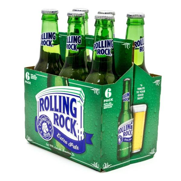 Rolling Rock - Extra Pale Premium Beer - 12oz Bottle - 6 Pack